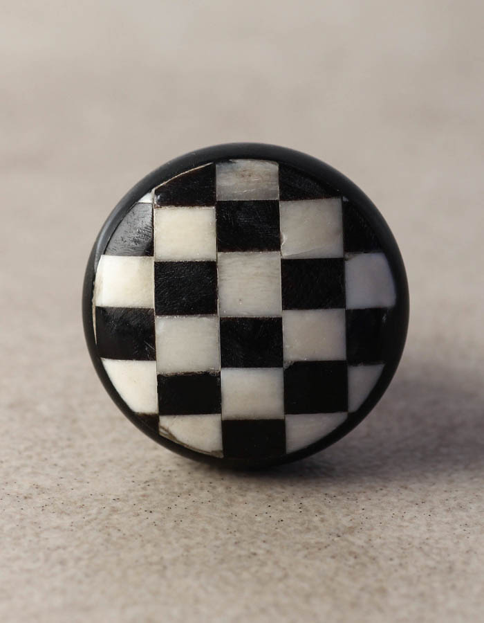 Black And White Checkered Cabinet Bone Knob Knobco