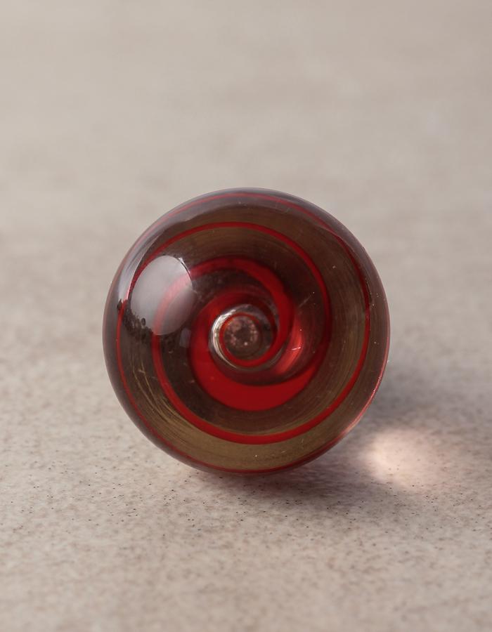 Clear Knob With Red Swirl Glass Knob Knobco