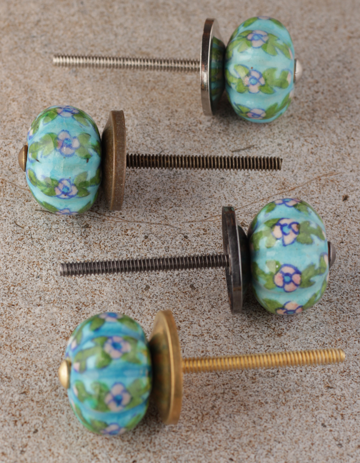 Turquoise Melon Knob For Drawer And Kitchen Cabinet Knobco