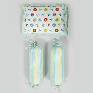 Chun Chun Chidiya Blue Cotton Baby Bedding Set (Set of 6)