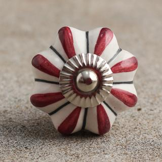 BPCK-010 Flower Shaped Cabinet Knob-Silver