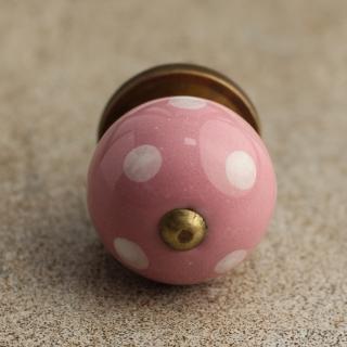 BPCK-030 Pink Cabinet Knob-Antique Brass