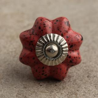 BPCK-042 Reddish-Brown Colored Flower Cabinet Silver knob