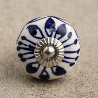 BPCK-058 Blue Design Base Cabinet knob- Silver