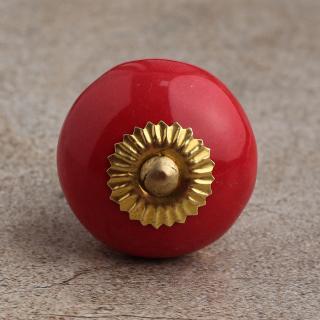 BPCK-069 Red Cabinet knob-Brass