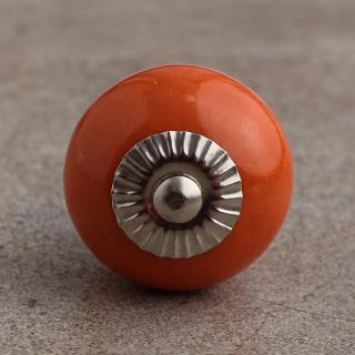 BPCK-075 Orange Colored Cabinet knob-Silver