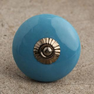 BPCK-084 Turquoise Cabinet Knob-Antique Silver