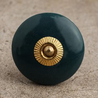 BPCK-085 Dark Green Cabinet Knob-Brass