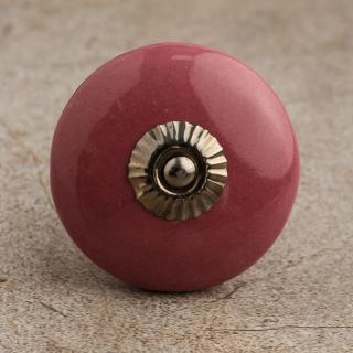 BPCK-088-A Pink Cabinet Knob-Antique Silver