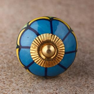 BPCK-121 Turquoise and Green knob-Brass