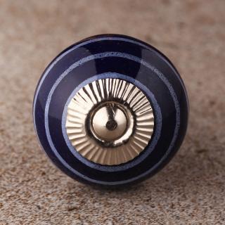 BPCK-165 Light Purple Line With Blue Base Ceramic knob-Silver