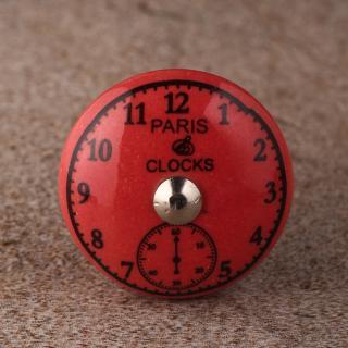 BPCK-170 Black Clock Pink Ceramic knob-Silver