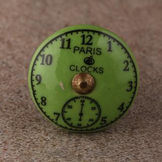 BPCK-171 Clock Ceramic knob-Antique Brass