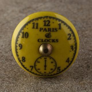 BPCK-172 Clock Ceramic knob-Antique Brass