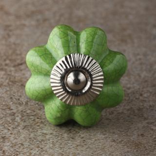 BPCK-200 Green Ceramic Knob-Silver