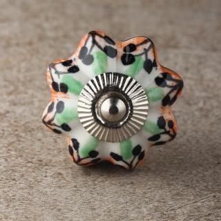 BPCK-207 Coloured ceramic knob-Silver