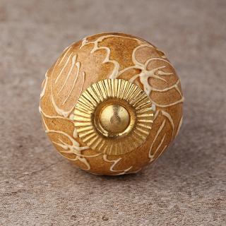 BPCK-242 Brown Cabinet knob-Brass