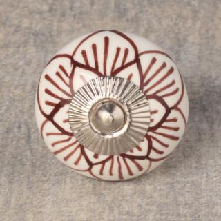 BPCK-249 Flower Ceramic knob-Silver