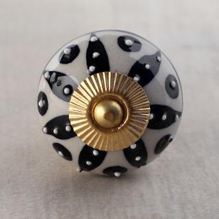 BPCK-251 Black color design knob-Brass
