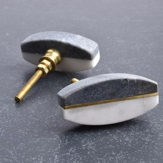 Black And White Agate Stone Drawer Knobs- 1