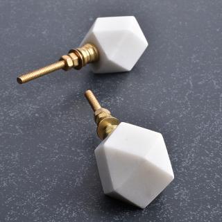 White Agate  Stone Cabinet Knob-1