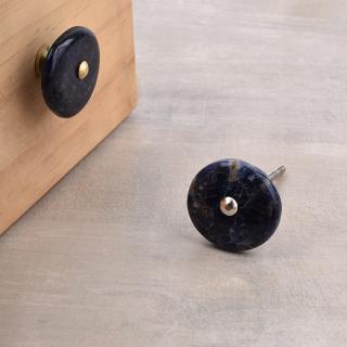 Agate Natural Gemstone Blue Shade Cabinet Furniture Knobs