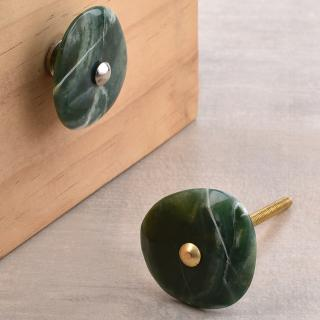 Agate Natural Gemstone Green Shade Cabinet Furniture Knobs