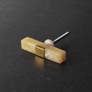 Rectangle Shape Mustard Resin Drawer Dresser Cabinet Knobs