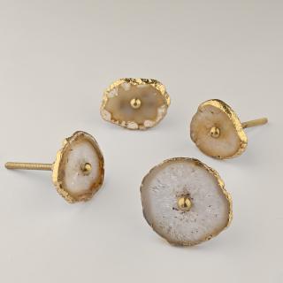 Agate Stone knobs Drawer Knobs Dresser Knobs Decorative Hardware