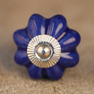 KPS-4570 Blue Cabinet Knob-Silver
