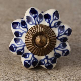 KPS-4658 Ceramic Cabinet Knob-Antique Brass