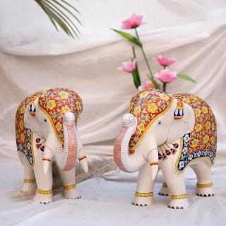 Ceramic Elephant - Handmade and Hand Painted