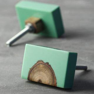 Resin ornamented Wooden Knobs | Knobco
