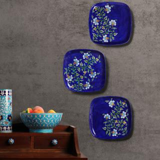 Series Of 3 Hand Painted Wall Plates Decorative Plates Wall Hanging Plates