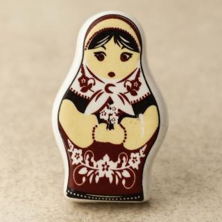 NKPS-001 Yellow and Brown Color Woman Shape knob
