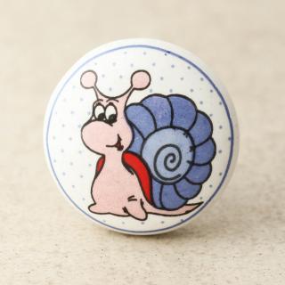 NKPS-017 Snail Design Ceramic knob