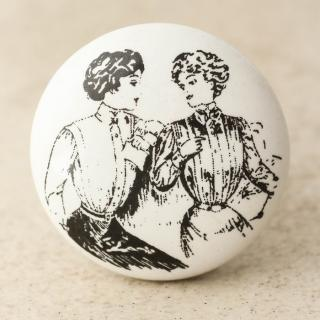NKPS-019 Ladies Sketch Ceramic Knob