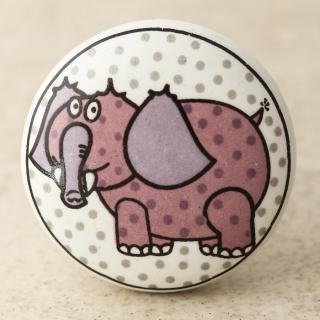 NKPS-026 Pink Elephant Ceramic knob