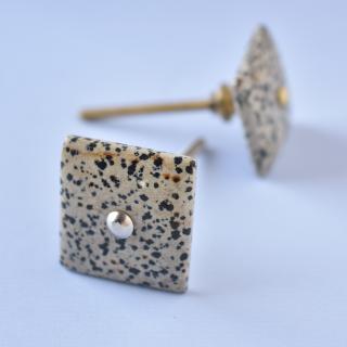 SMJK-065 Dalmatian Jasper Gemstone Cabinet Knobs-1