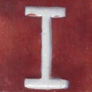 BPAT-001-White I Alphabet Brown Base Tile (2x2)
