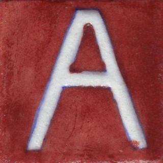 BPAT-003-White A Alphabet Brown Base Tile (2x2)