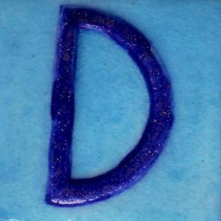 BPAT-013-Blue D Alphabet Turquoise Base Tile (2x2)