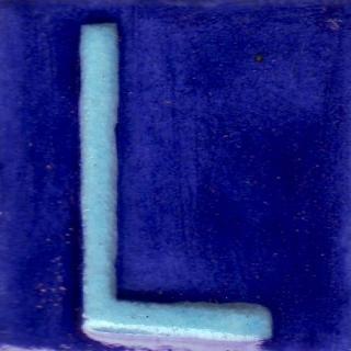 BPAT-018-Turquoise L Alphabet Blue Base Tile (2x2)