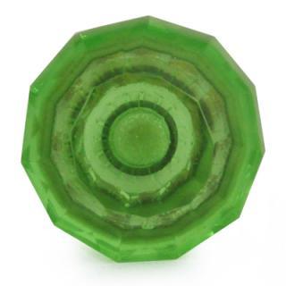BPGK-119-Green Glass Diamond-Cut Mushroom Knob (Medium)01