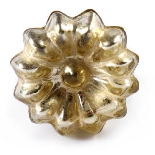 Gold Antique Metallic Glass Cabinet Knob