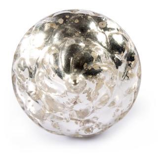 Silver Antique Metallic Glass Cabinet Knob