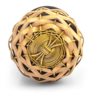 Cane and Metal Wire Weaved Knob (Small)