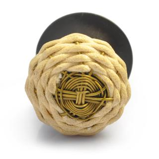 Thread and Metal Wire Weaved Cabinet Knob (Small)