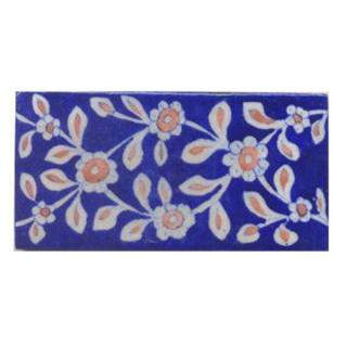 Brown Flower and Blue Tile