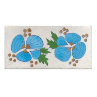 Turqouise flowers and white tile